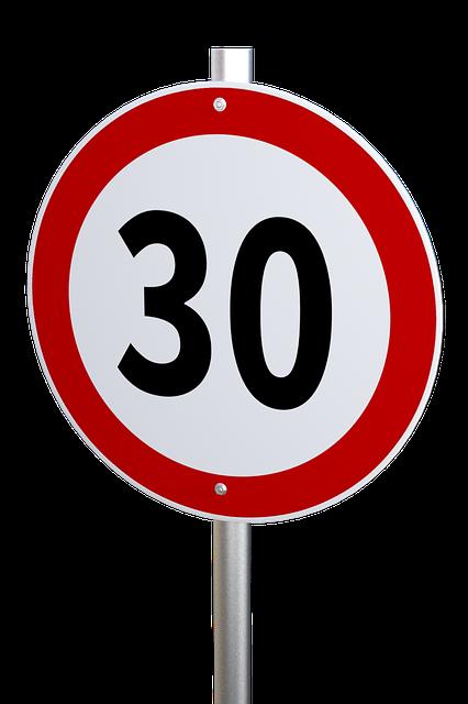 Geschwindigkeitsbegrenzung Bereich Dengg