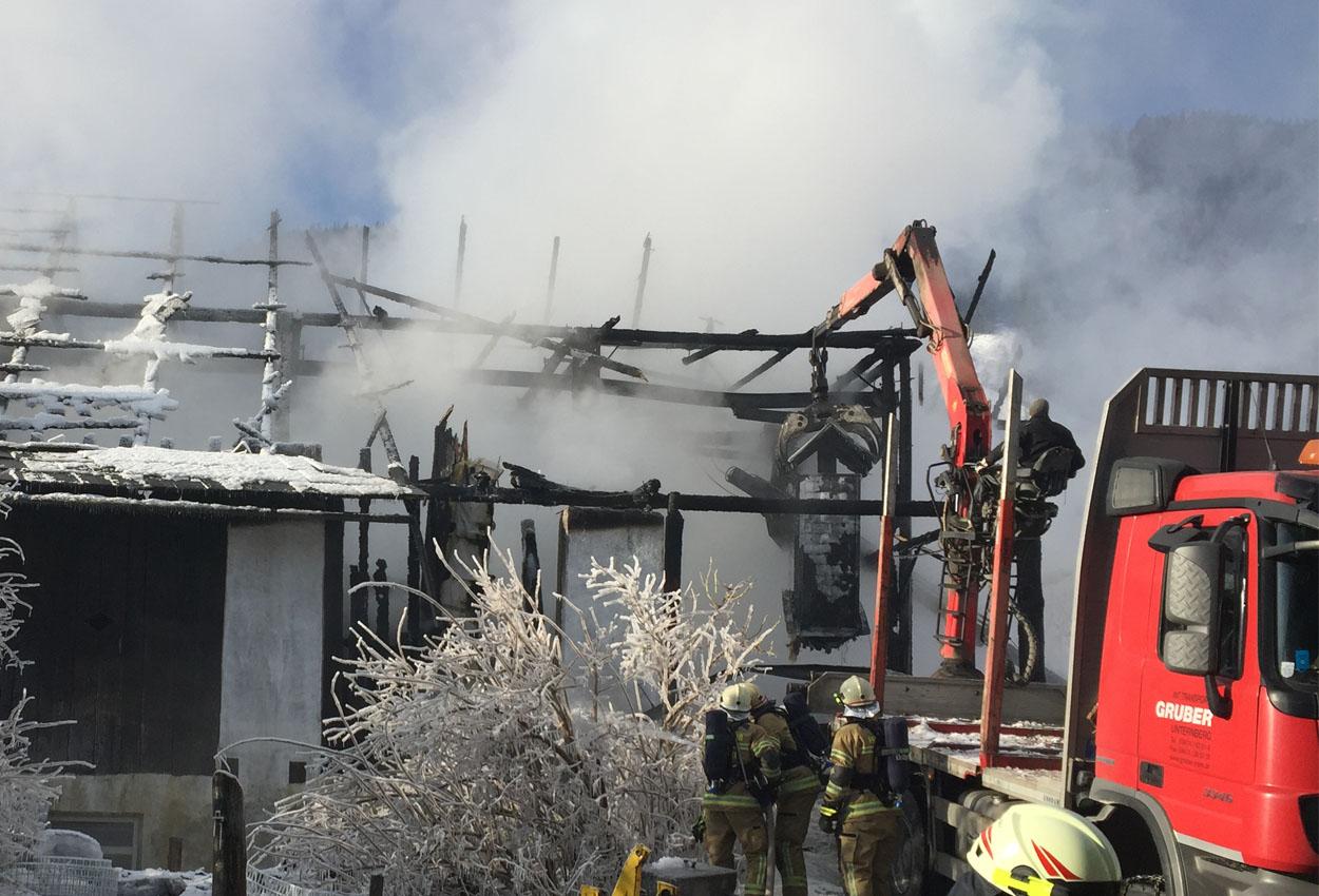 Großbrand in Weißpriach